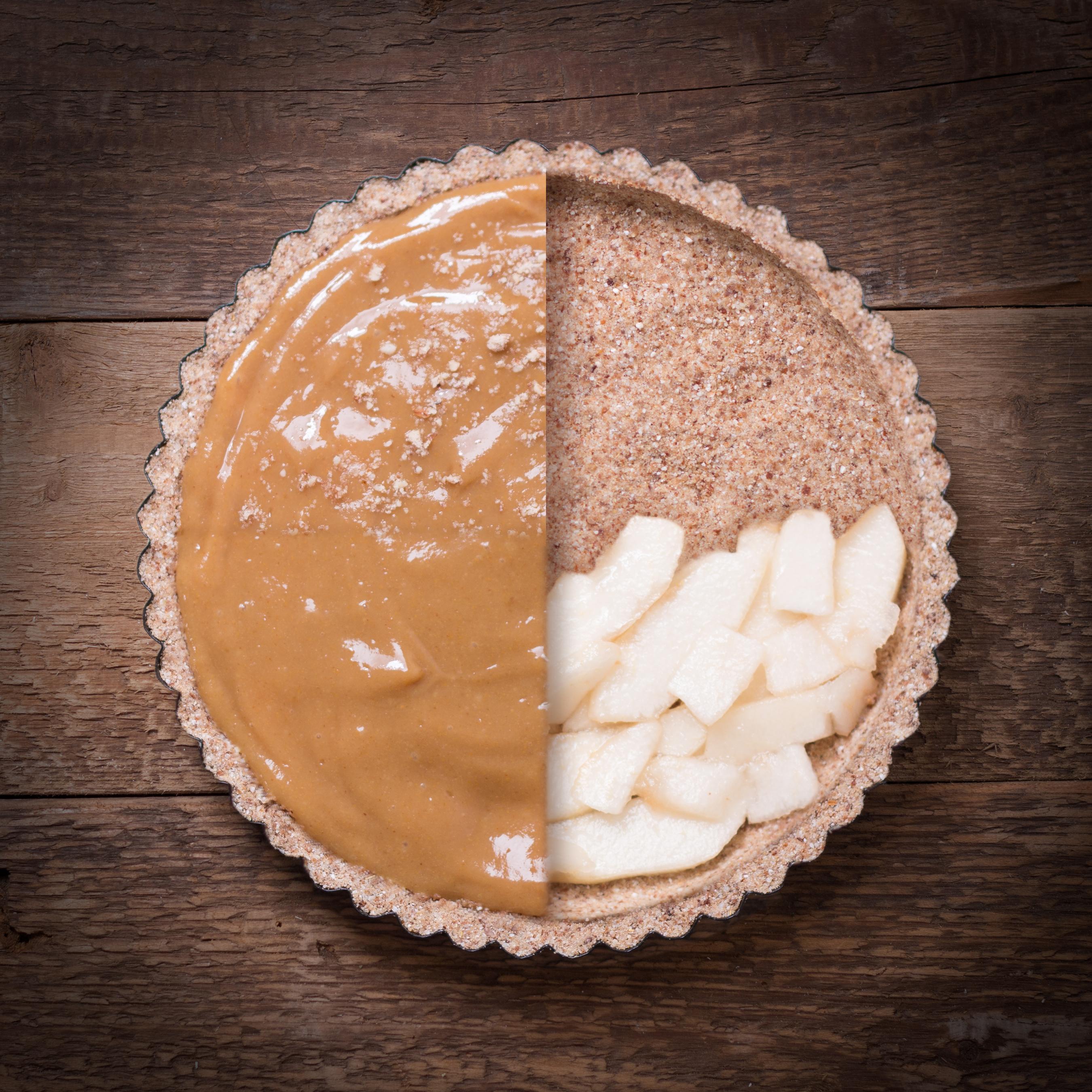 fügekrémes pite almával